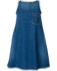 Robe trapèze bleue Love Moschino