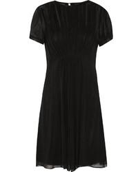 Robe trapèze en soie noire Marc by Marc Jacobs