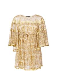 Robe trapèze imprimée beige Twin-Set
