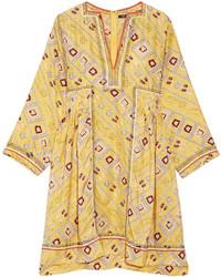 Robe trapèze imprimée jaune Isabel Marant