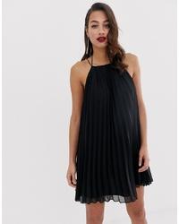 Robe trapèze noire ASOS DESIGN