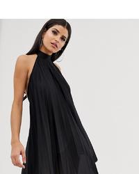 Robe trapèze noire Asos Tall