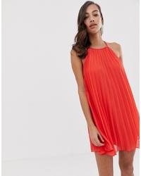 Robe trapèze rouge ASOS DESIGN