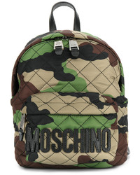 Sac à dos camouflage vert foncé Moschino