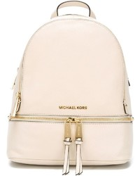 Sac à dos en cuir beige MICHAEL Michael Kors