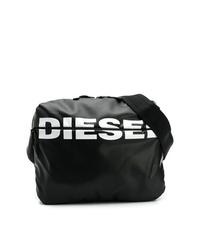 Sac à dos en cuir imprimé noir et blanc Diesel