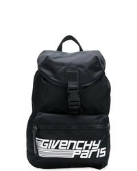 Sac à dos en cuir imprimé noir et blanc Givenchy