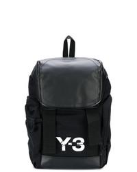 Sac à dos en cuir imprimé noir et blanc Y-3