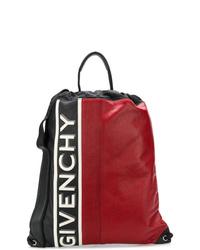 Sac à dos en cuir imprimé rouge Givenchy