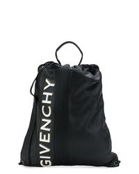 Sac à dos en cuir noir et blanc Givenchy