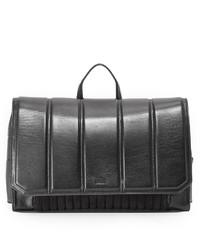 Sac à dos en cuir noir DKNY