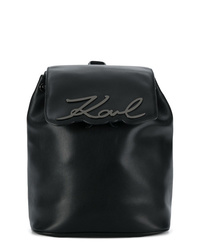 Sac à dos en cuir noir Karl Lagerfeld