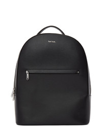 Sac à dos en cuir noir Paul Smith