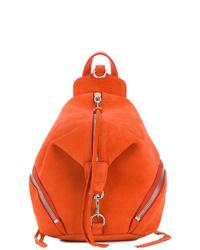 Sac à dos en cuir orange Rebecca Minkoff