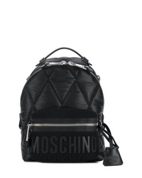 Sac à dos en nylon matelassé noir Moschino