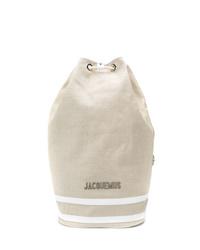 Sac à dos en toile beige Jacquemus