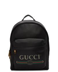 Sac à dos en toile noir Gucci