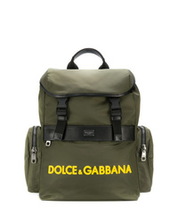 Sac à dos en toile olive Dolce & Gabbana