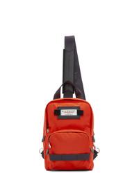Sac à dos en toile rouge et noir Givenchy