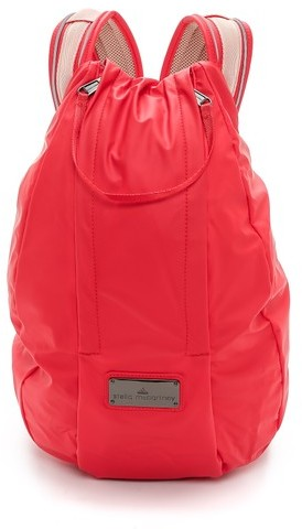 Sac à dos en toile rouge adidas by Stella McCartney