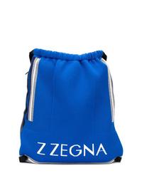 Sac à dos imprimé bleu Z Zegna
