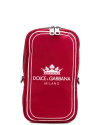 Sac à dos imprimé rouge Dolce & Gabbana