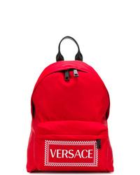 Sac à dos imprimé rouge Versace
