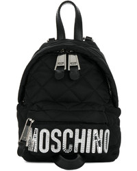 Sac à dos matelassé noir Moschino