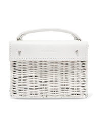 Sac à main en cuir blanc Wicker Wings
