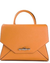 Sac à main en cuir orange Givenchy