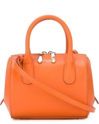 Sac à main en cuir orange Nina Ricci