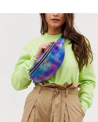 Sac banane en toile imprimé tie-dye multicolore Monki