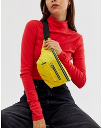 Sac banane en toile jaune Cheap Monday