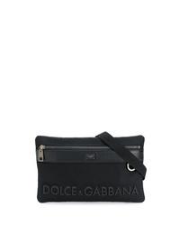 Sac banane en toile noir Dolce & Gabbana