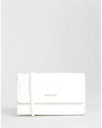 Sac bandoulière en cuir blanc Matt & Nat