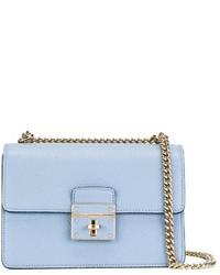 Sac bandoulière en cuir bleu clair Dolce & Gabbana
