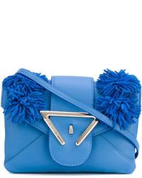 Sac bandoulière en cuir bleu Sara Battaglia