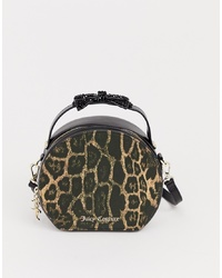 Sac bandoulière en cuir imprimé léopard noir Juicy Couture