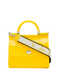 Sac bandoulière en cuir jaune Dolce & Gabbana