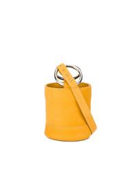 Sac bandoulière en cuir jaune Simon Miller