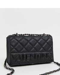 Sac bandoulière en cuir matelassé noir Valentino by Mario Valentino