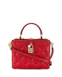 Sac bandoulière en cuir matelassé rouge Dolce & Gabbana