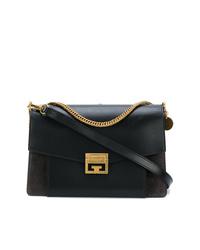 Sac bandoulière en cuir noir Givenchy