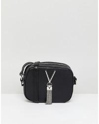 Sac bandoulière en cuir noir Valentino by Mario Valentino