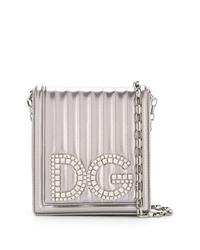 Sac bandoulière en cuir orné argenté Dolce & Gabbana