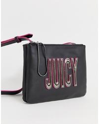Sac bandoulière en cuir orné noir Juicy Couture