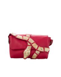 Sac bandoulière en cuir orné rouge RED Valentino
