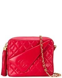 Sac bandoulière en cuir rouge Chanel