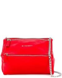 Sac bandoulière en cuir rouge Givenchy
