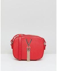 Sac bandoulière en cuir rouge Valentino by Mario Valentino